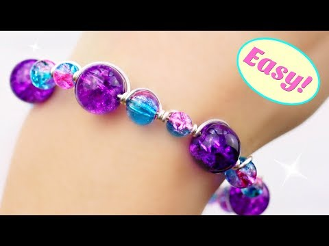 DIY Bracelet With Beads - Super EASY! Jewelry Making For Beginners