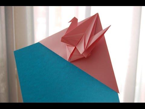 Paper Peace Crane Bookmark Origami - YouTube
