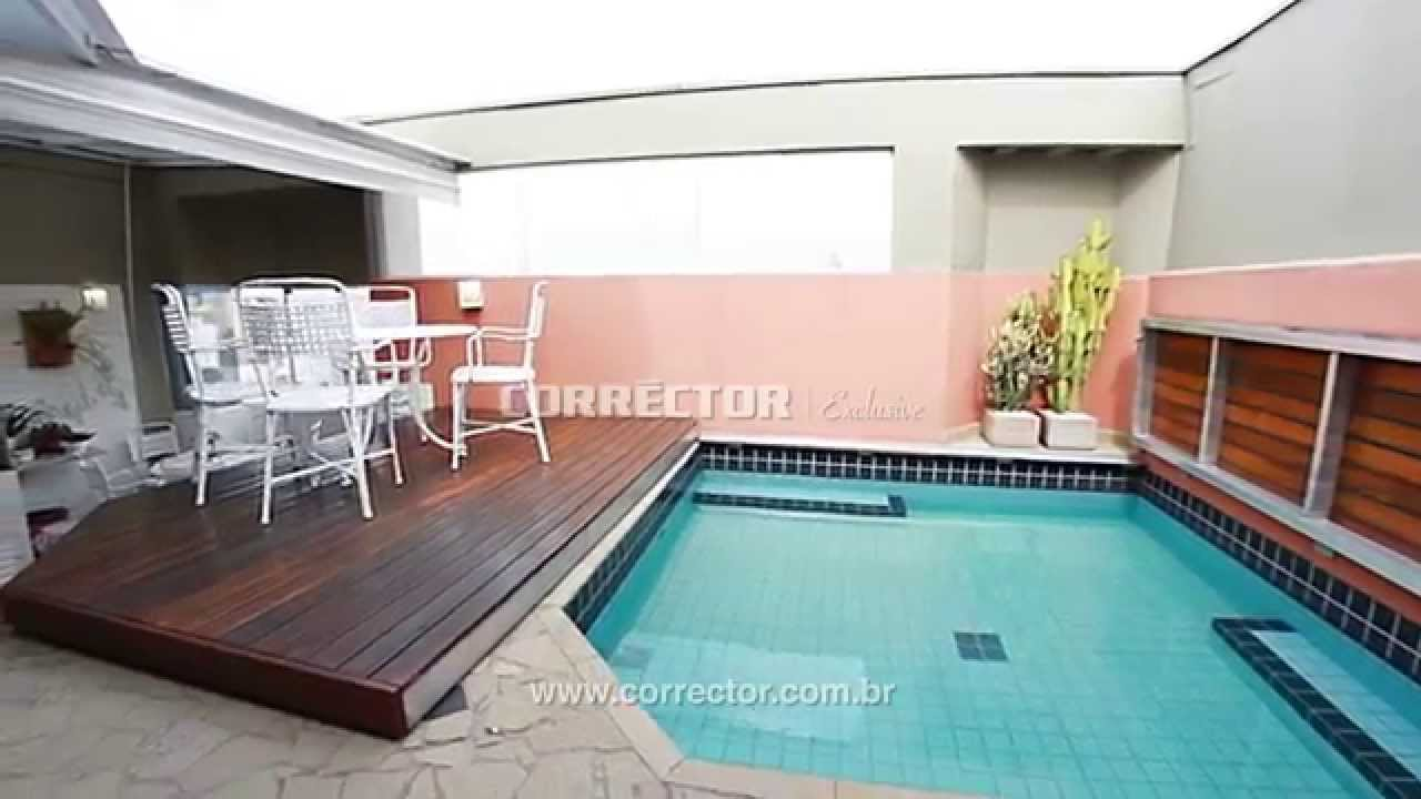 Cobertura com piscina no cambu campinas youtube for Cobertura piscina