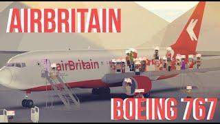 ROBLOX airBritain Boeing 767 flight