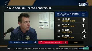 Craig Counsell on Hiuera's debut and Brewers' win