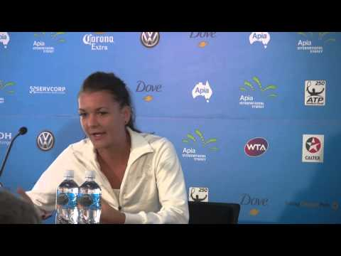 Agnieszka Radwanska Semifinal Press Conference: Apia International Sydney 2013