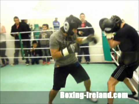 Marco Antonio Barrera vs Scott Quigg interview and sparring at Camp Maree