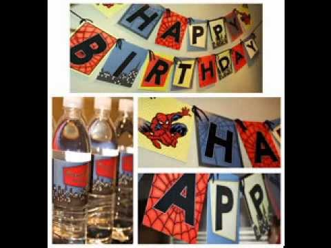 DIY Spiderman birthday party decorating ideas YouTube