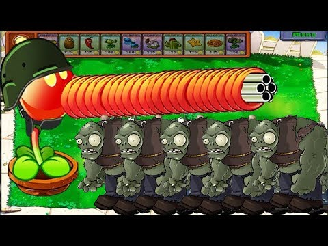1 Peashooter Vs 999 Gargantuar Zombies Epic Hack PvZ