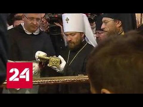 Мощи Николая Чудотворца передали РПЦ