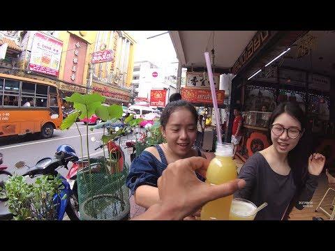 Thailand Bangkok Street Food Part.1 Orange Juice China Town YDXJ0790