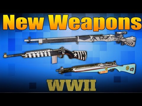 6 New Weapons in Call of Duty WW2 (ITRA Burst, Sterling, Type 38, Type 5, M2 Carbine)