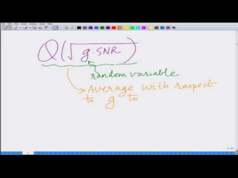 Lecture 14: BER of Multiple Antenna Wireless Systems