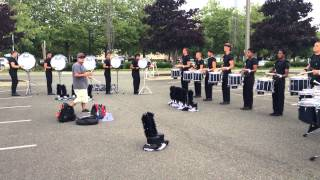 Columbians Drum and Bugle Corps 2014 Battery in the Lot at Renton, WA