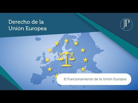 Vídeo nº 2. El Funcionamiento de la Unión Europea