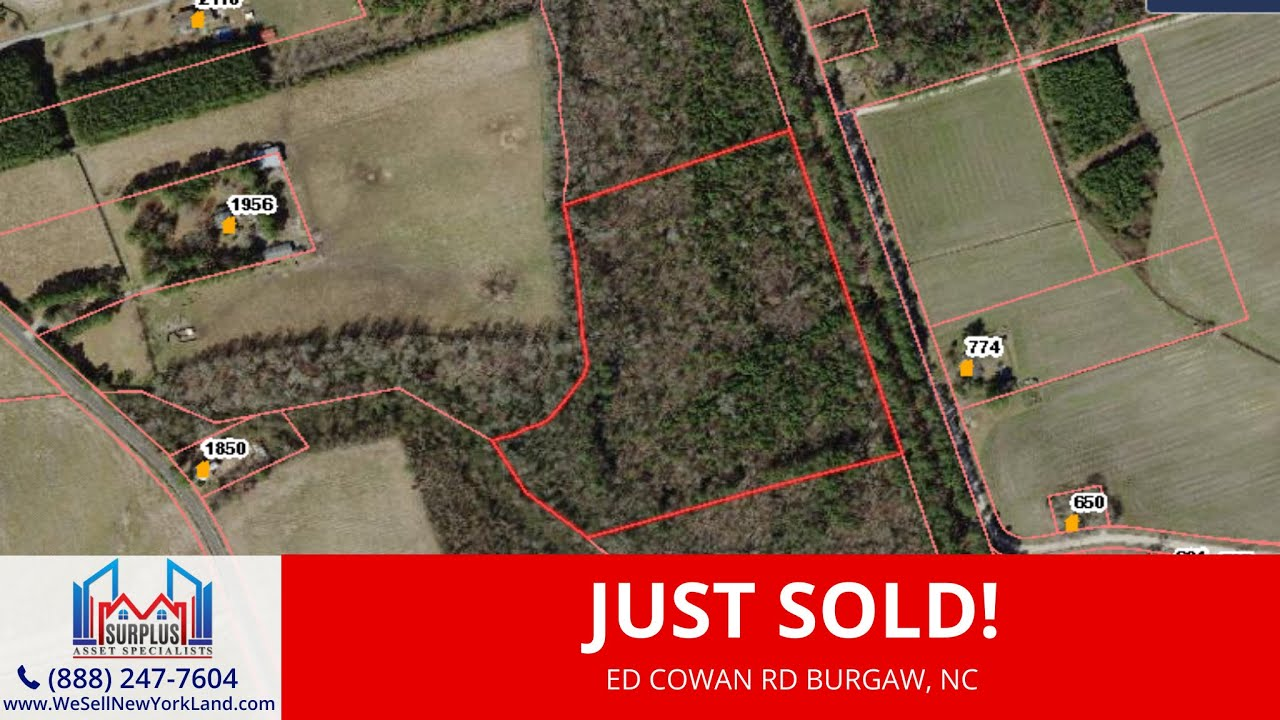 Ed Cowan Rd  Burgaw, NC - Wholesale Land For Sale - www.WeSellNewYorkLand.com