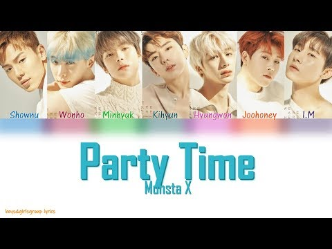 MONSTA X (몬스타엑스) - Party Time [COLOR CODED LYRICS(Han|Rom|Eng)]