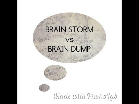 Brainstorm and Brain dump: Planning in my Bullet Journal