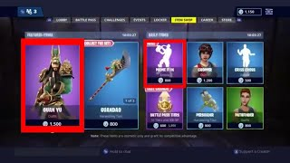 Fortnite Item Shop *EPIC* Guan Yu Skin [ First Of December ] Fortnite Battle Royale
