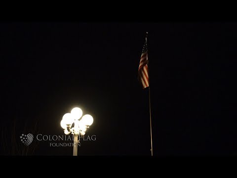 The History Of Flying The US Flag At Night