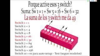 Tutorial dmx Basico - Video N° 2 - Seleccion por Dip Switch