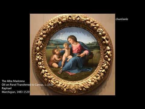 Famous Painting: Italian Renaissance Raphael - The Alba Madonna