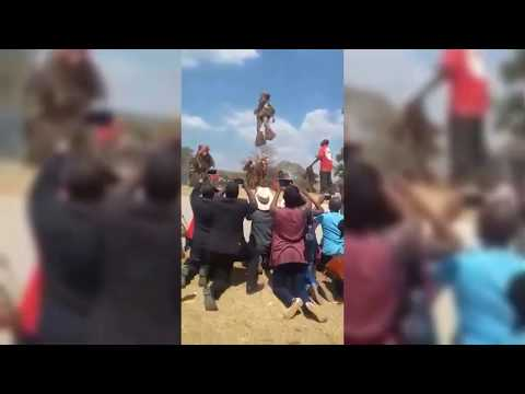 Black Magic in Africa Floating A Man into Air