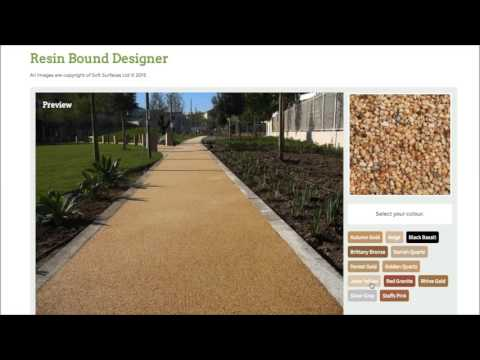 Create your own Resin Gravel Surfacing