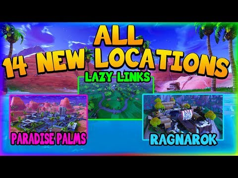 ALL 14 NEW LOCATIONS IN FORNITE SEASON 5! (Fortnite Battle Royale)