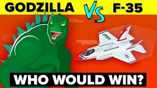 GODZILLA vs F-35 - WHO WOULD WIN? | Godzilla: King of the Monsters 2019 Movie