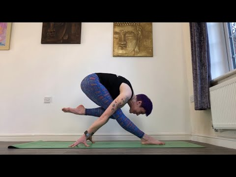 Fallen Flamingo Pose Pyramid Pose Variation How To Yoga