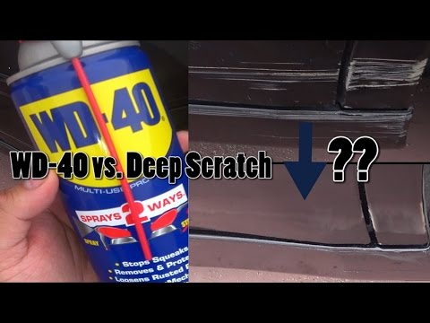 WD-40 on a Deep Car Scratch