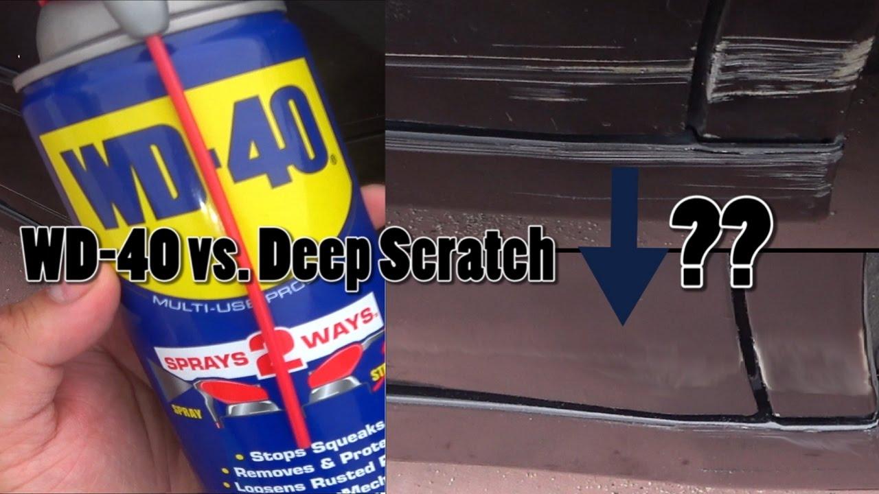 WD-40 on a Deep Car Scratch