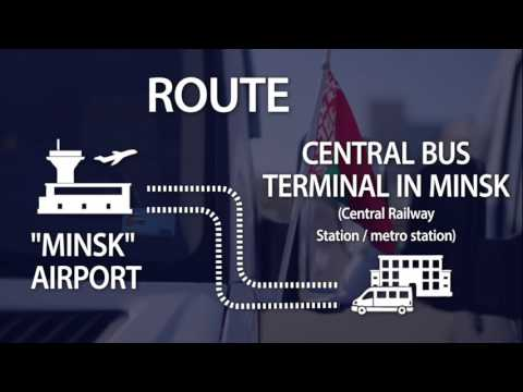 The official shuttle bus of the Minsk airport in Belarus for $2. AeroExpress.BY