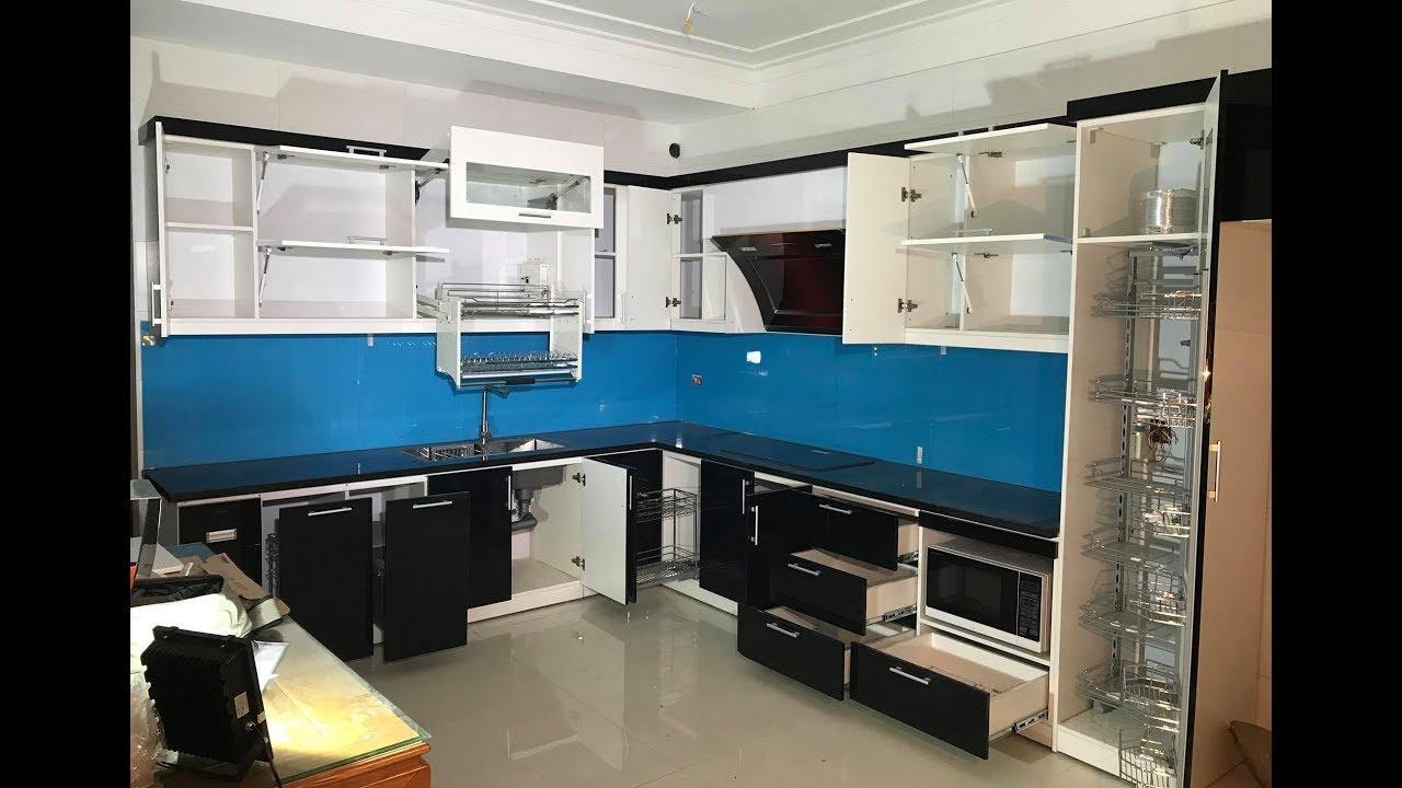 Nội thất Hpro | Tủ bếp acrylic An Cường kèm phụ kiện, thiết bị bếp cao cấp nhà chị Minh- Bắc Giang