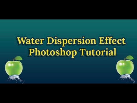 Water Dispersion Effect Photoshop Tutorial Tutorial video is about how ...