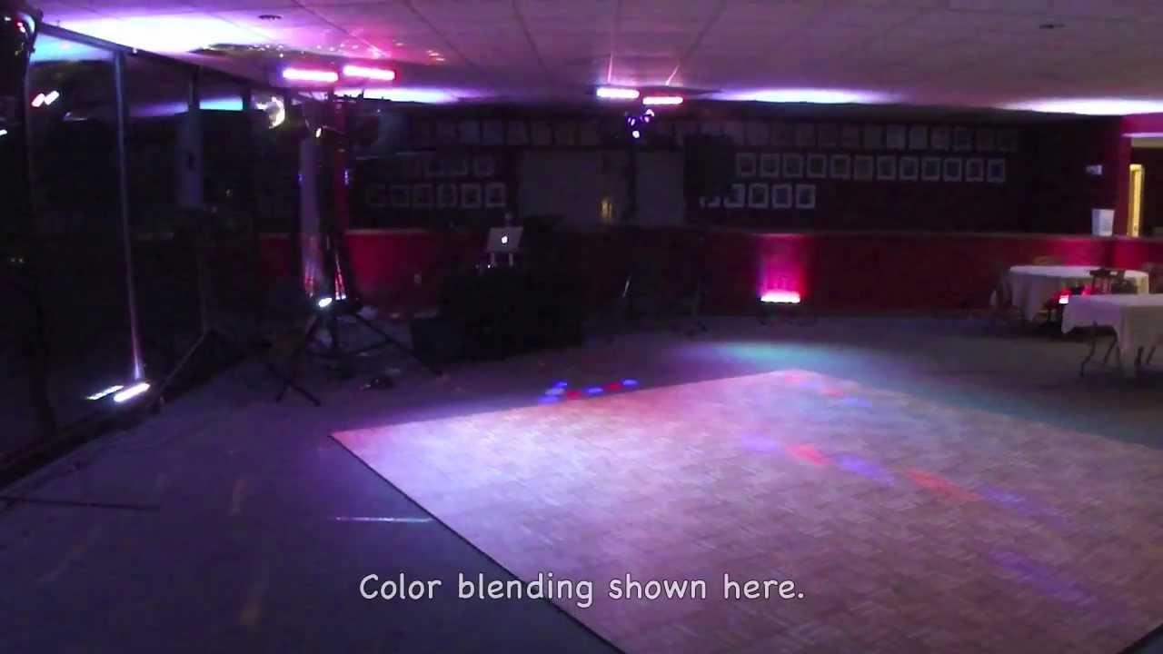 sound evolution dj lighting setup examples for weddings proms