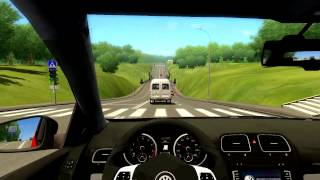 City Car Driving 1.2.5: VW Golf R + GlovePIE