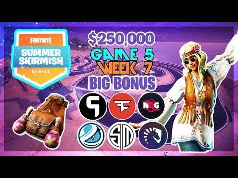 250 000 Big Bonus Summer Skirmish Week 7 Game 5 Fortnite