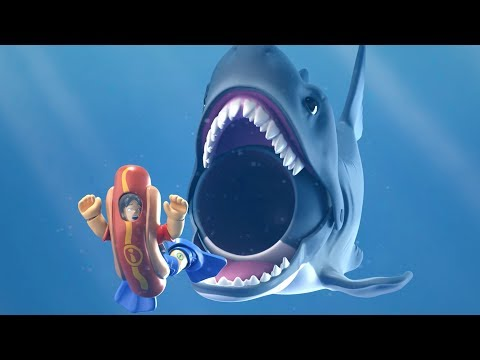 Imaginext - The Big Shark And The Hot Dog Vendor | Shark Race | Cartoons For Children | Fisher Price