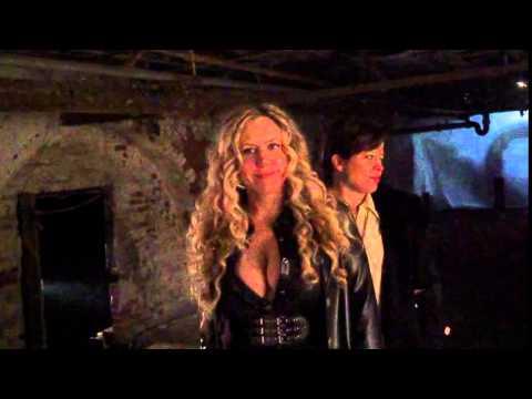 Melantha Blackthorne and Tiffani Fest having fun on the set of