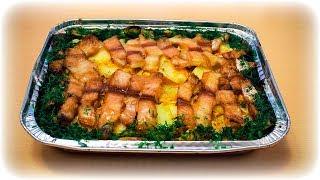 Запечённая  рыба . Очень вкусное филе рыбы с картошкой в духовке .