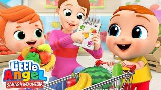 Mari Belajar Warna di Supermarket! | Kartun Anak | Little Angel Bahasa Indonesia
