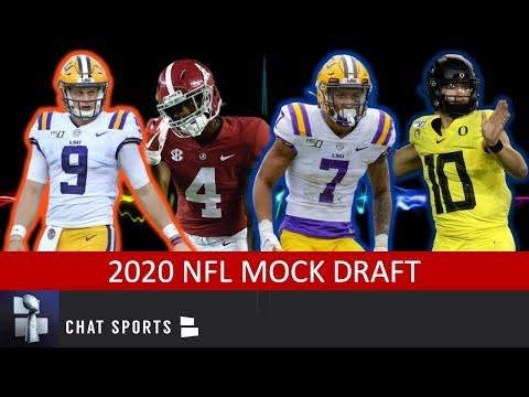 2020 NFL Mock Draft: 1st Round Projections Ft. Joe Burrow, Tua Tagovailoa & Jerry Jeudy