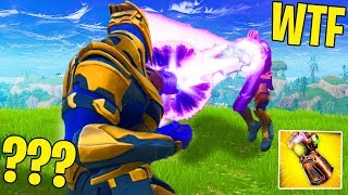 *NEW* 2X THANOS GAUNTLET IN ONE GAME OF FORTNITE (Fortnite Thanos Infinity Gauntlet Update Gameplay)
