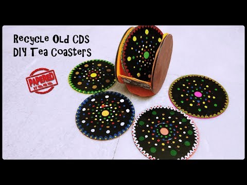 Recycle Old CDs | Tea Coasters from Old CDs | Home Decor Idea | Papered