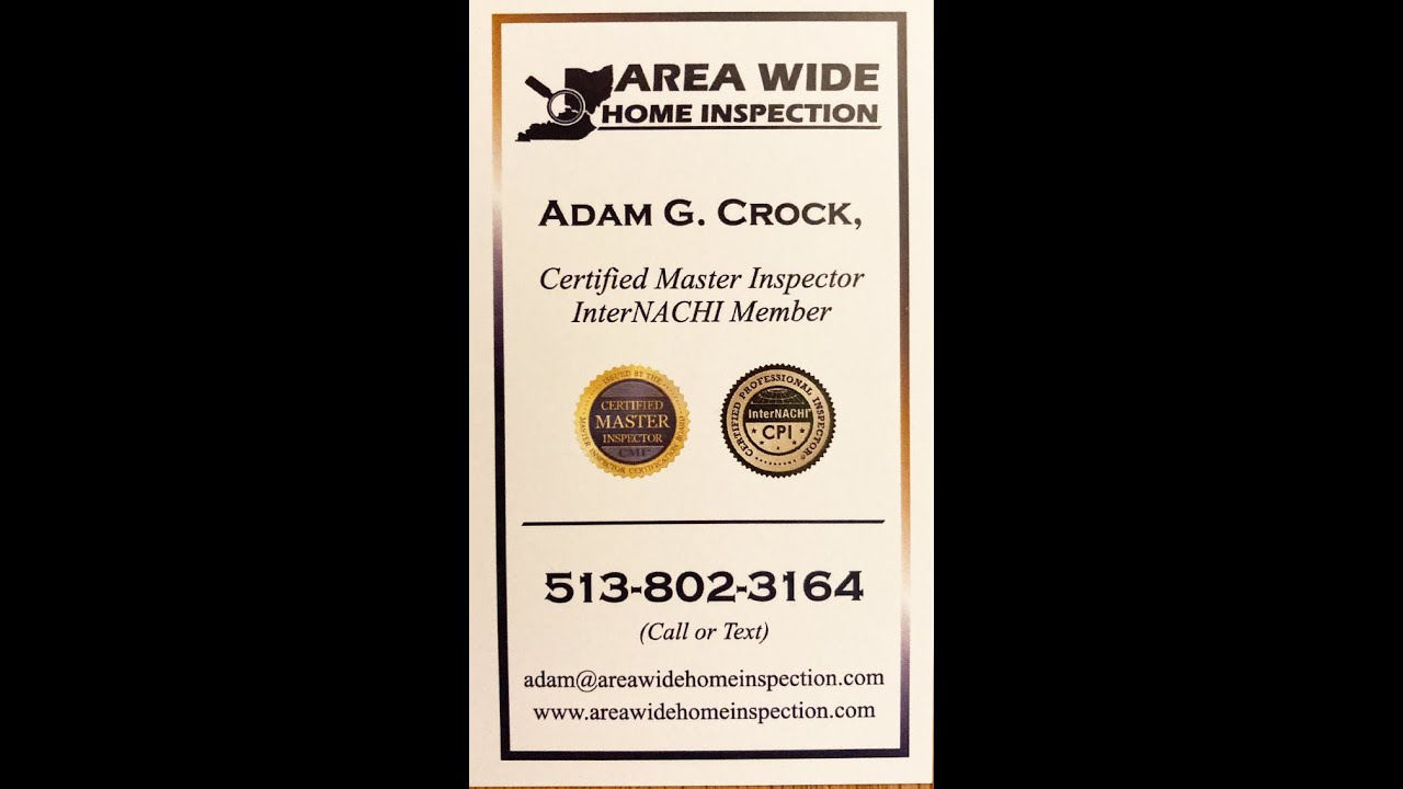 Realtor's Experience with the Home Inspector of Area Wide Home Inspection.
