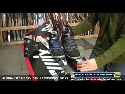 Rossignol BC X2 / Alpina 1550  & 1575 Ski Boots Review Video by ORS Cross Country Skis Direct
