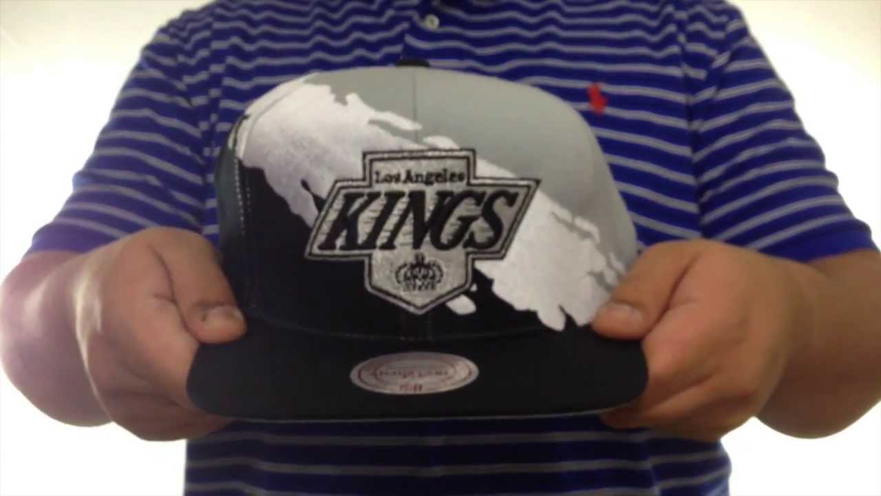 bd1e8f796da Kings  PAINTBRUSH SNAPBACK  Grey-White-Black Hat by Mitchell   Ness ...