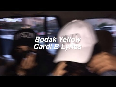 Bodak Yellow || Cardi B Lyrics