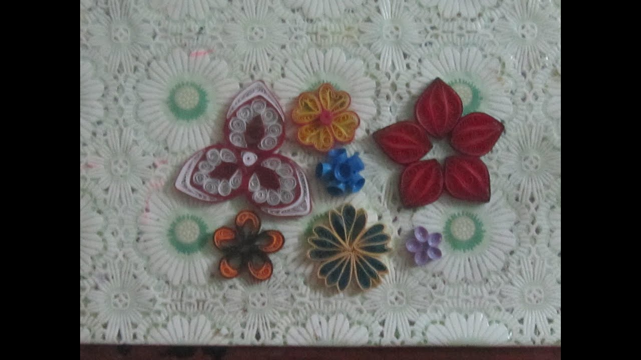 Paper quilling flowers 7 types youtube mightylinksfo