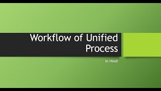 Workflow of unified process-OOAD-Hindi-Rishabh Pandey