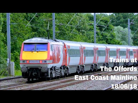 *NEW CAMERA* Trains at The Offords, ECML | 18/06/18