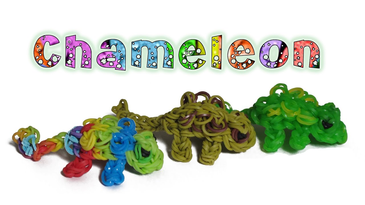 Bekannt Rainbow Loom 3D Chameleon charm/Figure - How to - Animal Series  CZ72